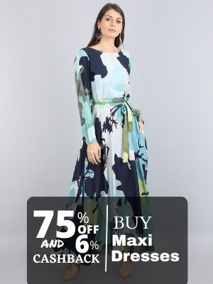 Buy celebrity style maxi dress from limeroad at discount of 75% also earn cashback upto 6% from flopoffer