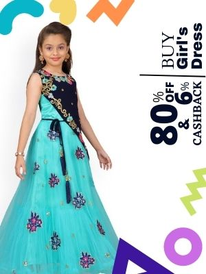 Buy cute girls dresses at upto 80% discount from amazon and earn upto 6% extra cashback from flopoffer