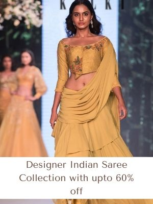 Designer Indian Saree Collection with upto 60% off Get 5% extra cashback on each offer