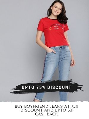 Exclusive collection of boyfriend jeans from myntra with upto 75% off