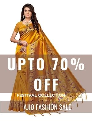 Festive clothings with 70% off and extra 3% Cashback