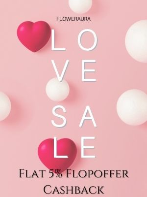 Flat 5% Flopoffer cashback on All valentine gifts from Floweraura, Shop now