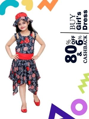 Flipkart is offering discount of upto 80% on girl's dress and earn upto 6% extra cashback from flopoffer