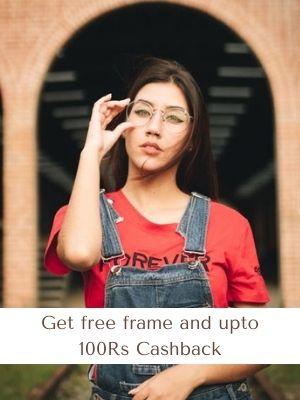 Get free frame and upto 100Rs Cashback