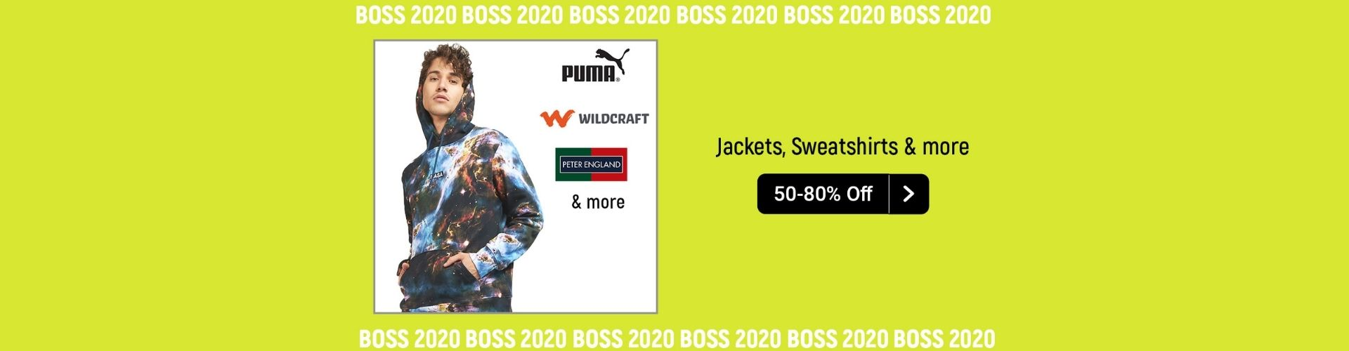 Jackets sweat shirts and more available at minimum 50% off