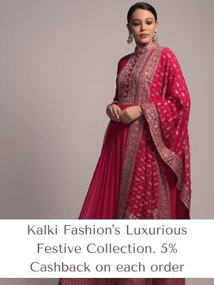 Kalki Fashion brings Luxurious festive collection Get extra 5% cashback from flopoffer on each order