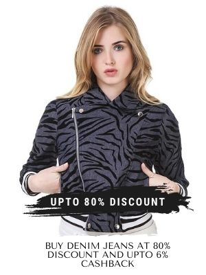 Limeroad offers Editor-picked denim jackets for women with a discount of up to 80% and 6% cashback from flopoffer