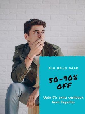 Minimum 50% off on ajio Mens fashion