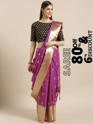 Myntra is offering 80% discount on paithani saree also earn cashback upto 6% from flopoffer