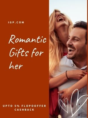 Send Personalized valentine day gift on same day and get flat 5% flopoffer cashback