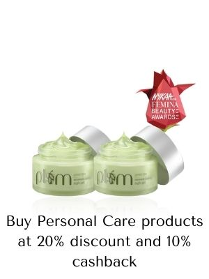Upto 20% off on personal care item from plum goodness and get upto 10%