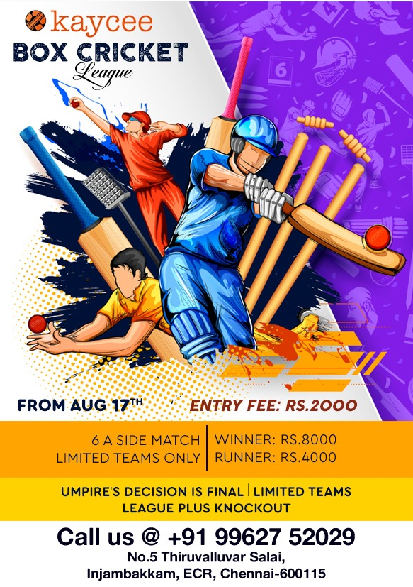 Playmatches Box Cricket League By Kaycee Tournament