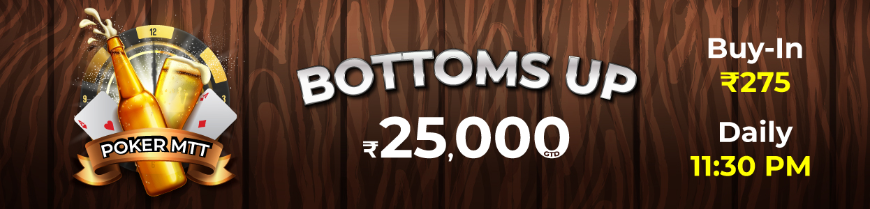 Bottoms Up Tourney banner