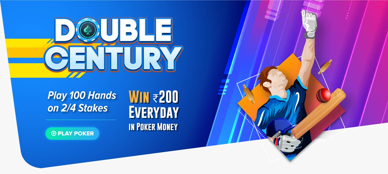 Double Century | Play Online Poker