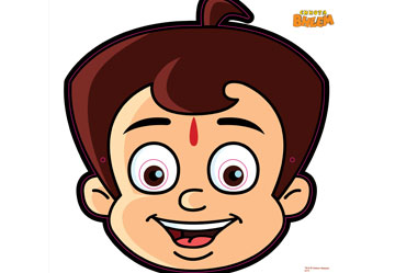 Chhota Bheem Birthday Mask