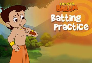 Chhota Bheem Batting Practice
