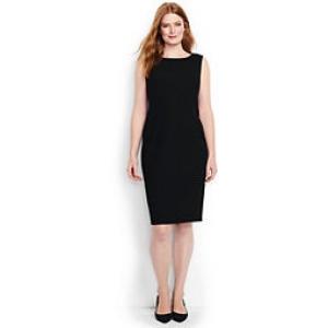 Lands\' End Women\'s Plus Size Wear to Work Sheath Dress-Dark ...