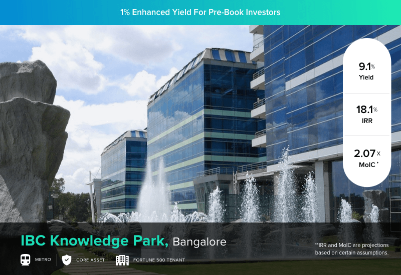 Webinar [25th Sep 2019]: IBC Knowledge Park III , Bangalore - 9.1% Yield and 18.27% IRR