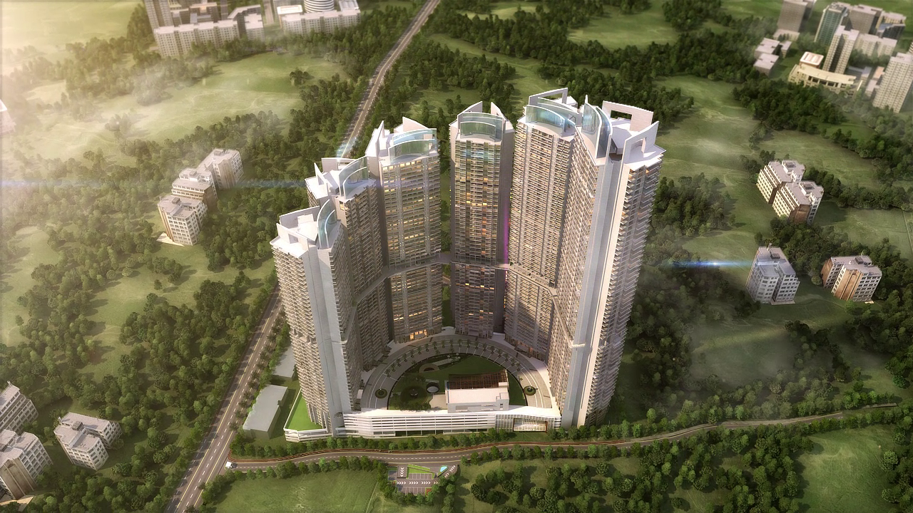 Flat for sale in L and T Crescent Bay , Parel