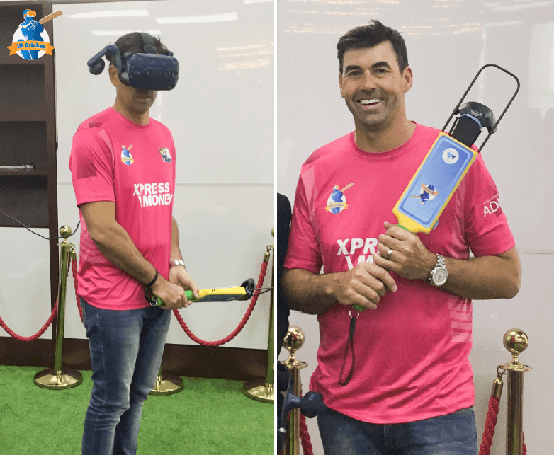 Stephen Fleming was overjoyed after experiencing the world's most immersive VR cricket!