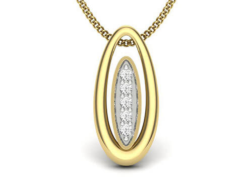 Mayur 0.03ct Diamond Pendant
