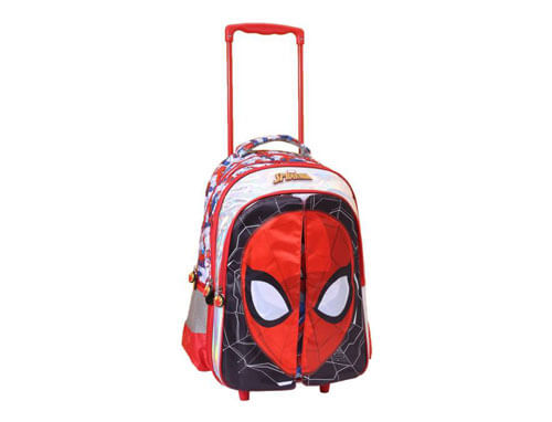 SPIDERMAN FLAP TROLLEY SCHOOL BAG