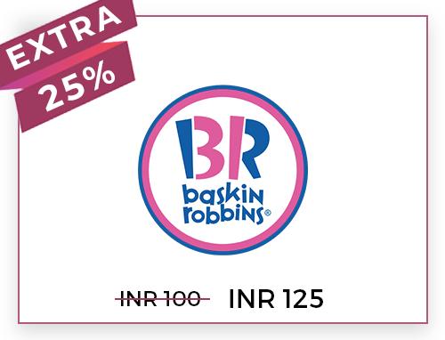Baskin Robbins Rs. 100