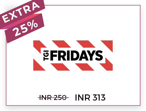 TGI Friday's Rs. 250