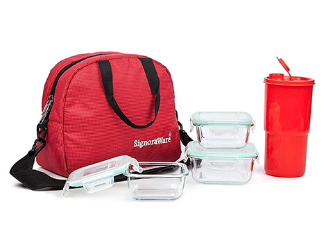 Signoraware Sling Glass Lunch Box