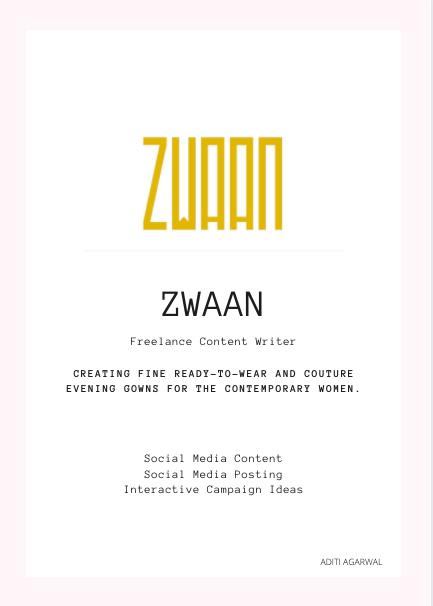 Zwaan - Social Media Content Writer