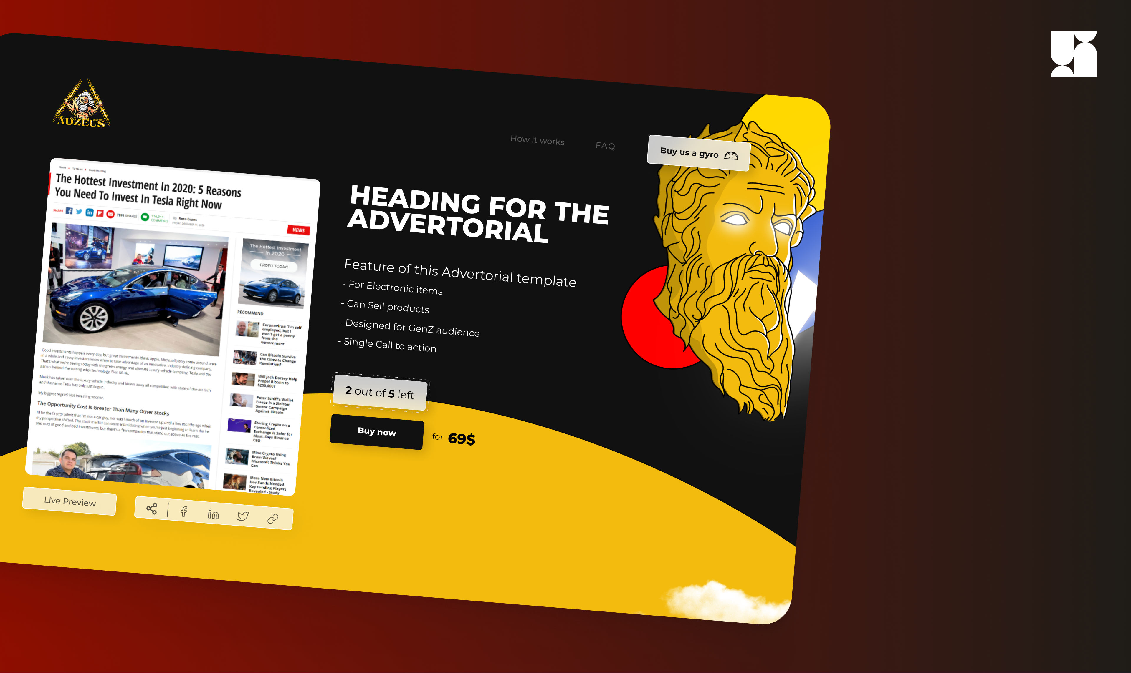 They Sell Advertorial Templates