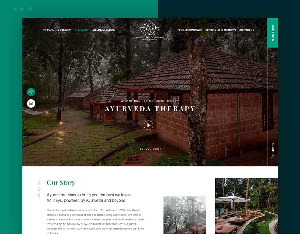 web designing client ayurmithra portfolio