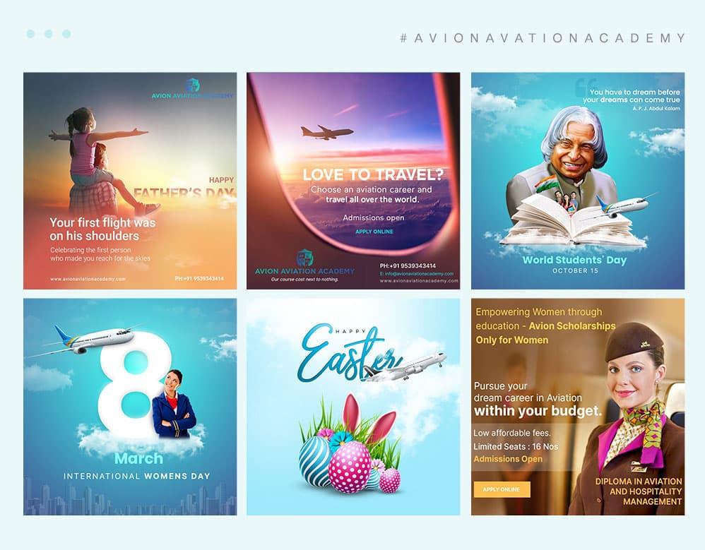 Digital marketing client avion portfolio