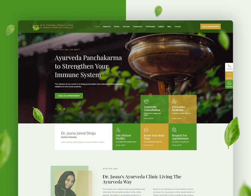 web designing client jasna portfolio