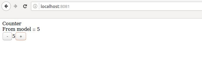 elm counter app in browser