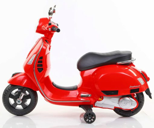 Vespa Rechargeable Battery Operated Ride-on Scooter for Kids(3 to 7yrs), Red