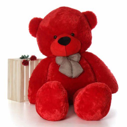3 feet teddy bear RED