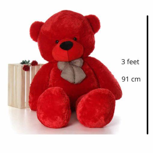 SOFT TOY Teddy Bear | 3 feet teddy bear RED