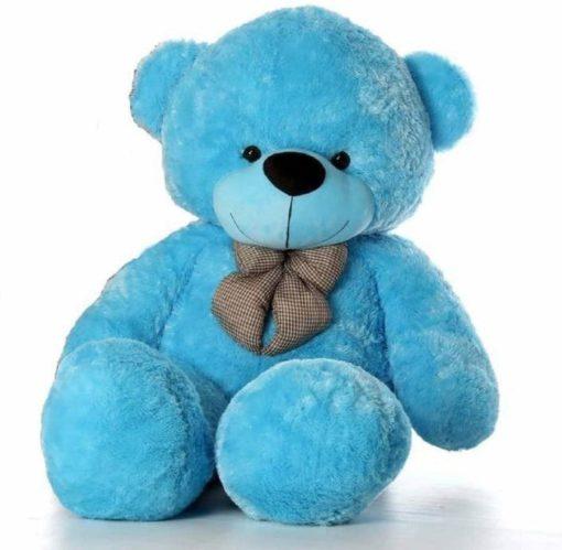 4 feet teddy bear Blue colour Soft toy teddy bear Best Birthday Gifts