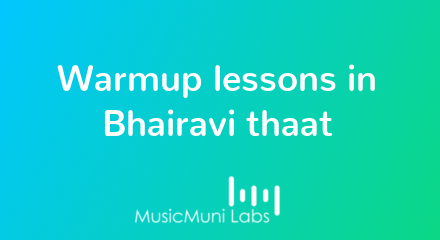 Fundamental Hindustani music patterns in Bhairavi thaat