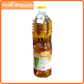 Manha Organic Sunflower Oil 1ltr