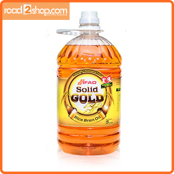 Ifad Solid Gold Rice Bran 5ltr Oil