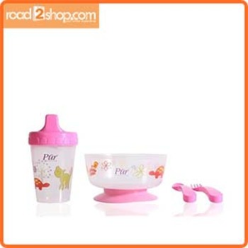 Pur Baby 4 In 1 Weaning Set R5910 6m Pink 1combo