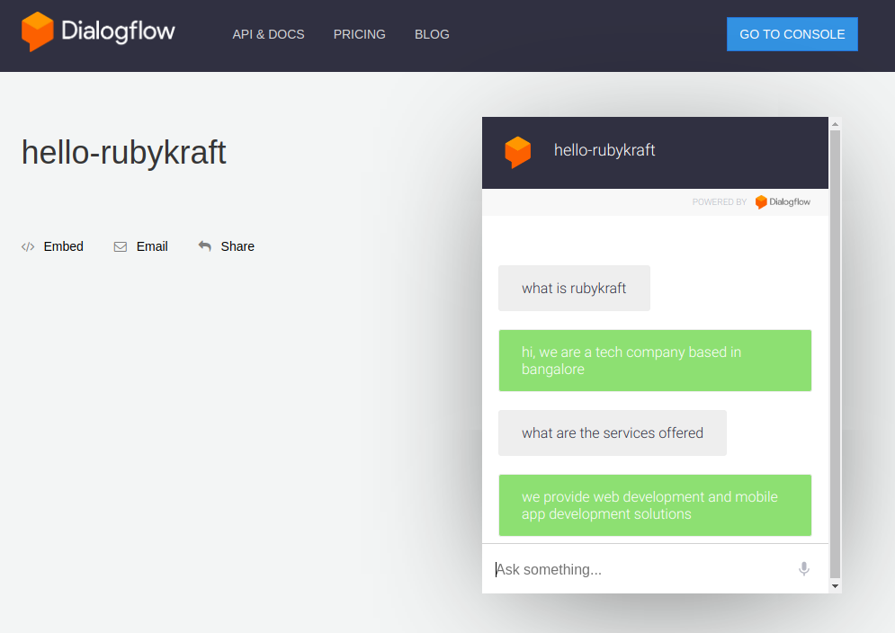 How to build an informative Chat-Bot using Google's Dialogflow?