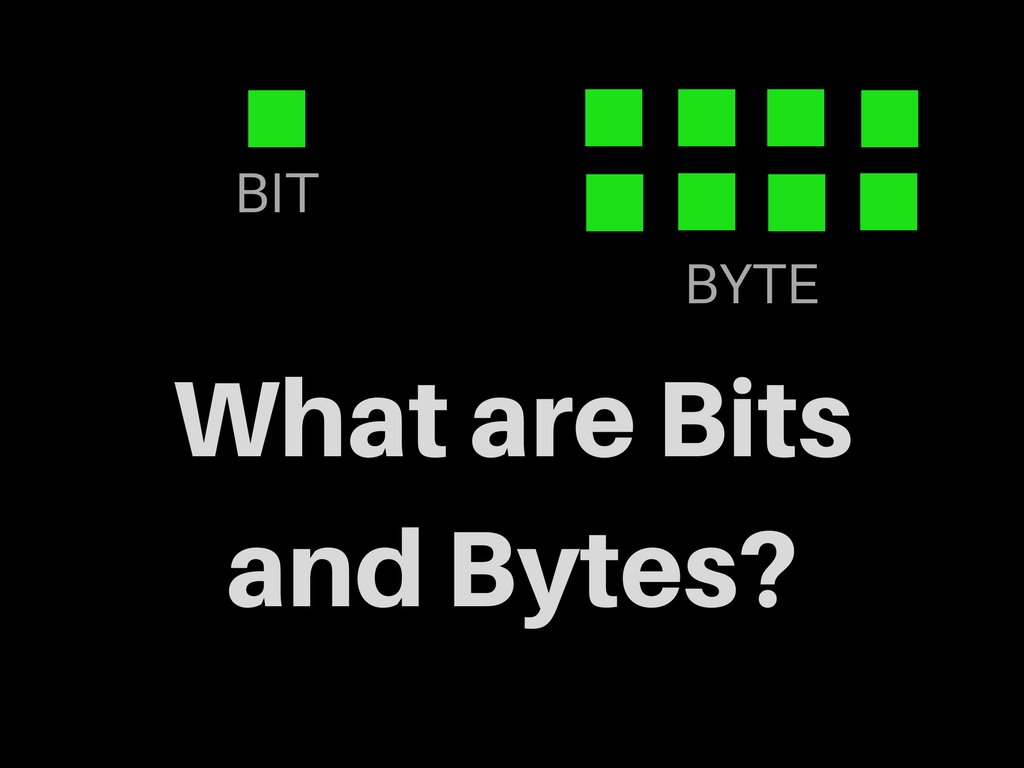 Understanding what are Bits and Bytes And the Difference