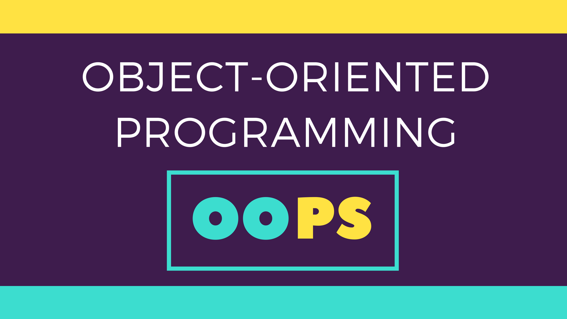 basic concepts of object oriented programming