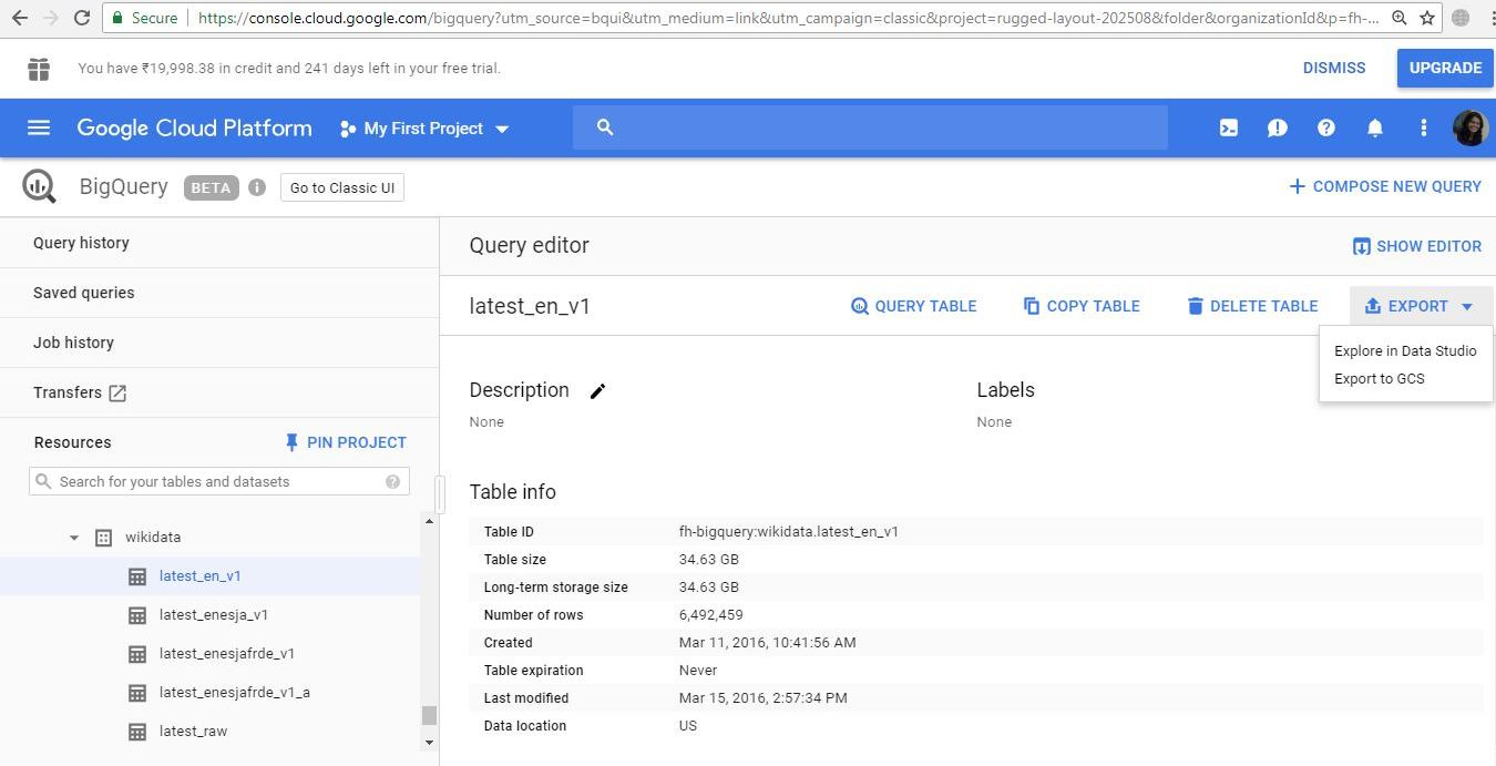 google BigQuery getting started guide - Run a query