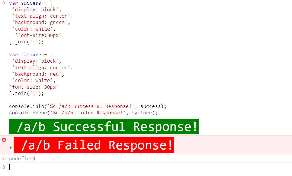 replace css with variables in console