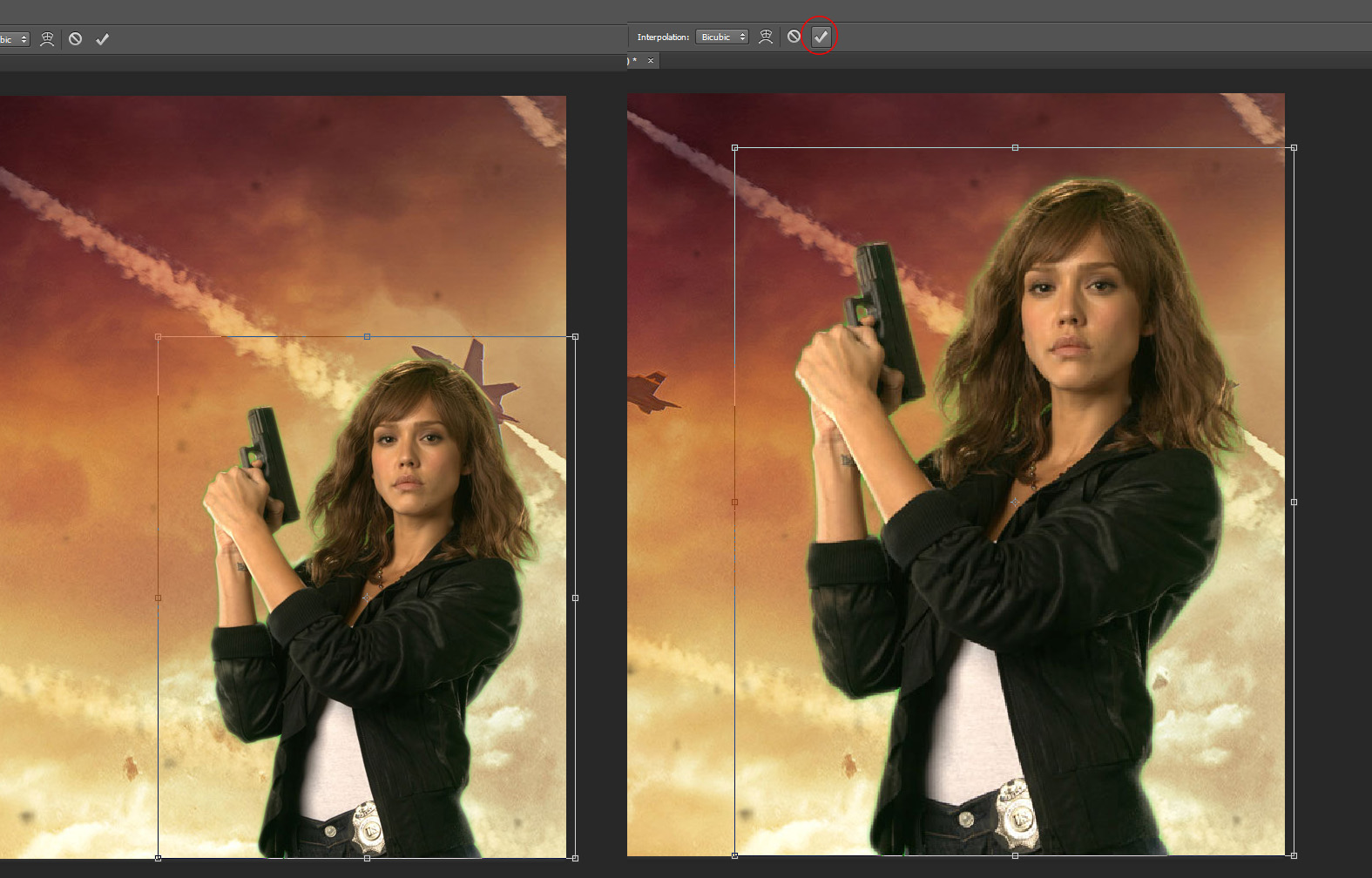 Transforming the Image in photoshop