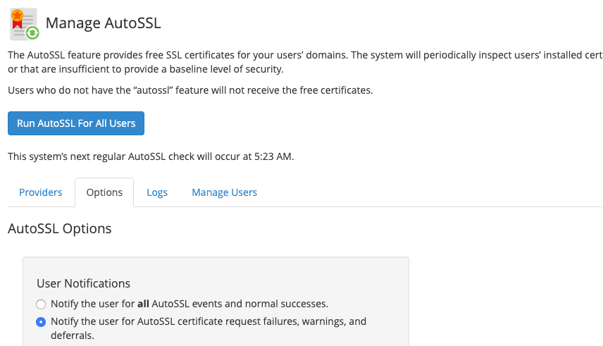 manage auto SSL on WHM with Cloudflare
